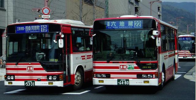 赤い京阪バス